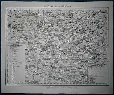 1848 Sohr Berghaus map PROVINCE OF BRANDENBURG, KINGDOM OF PRUSSIA (#21)