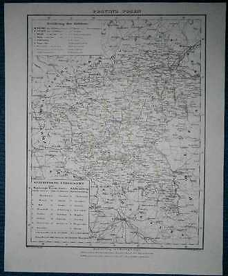1848 Sohr Berghaus map PROVINCE OF POSEN (POZNAN), KINGDOM OF PRUSSIA (#26)