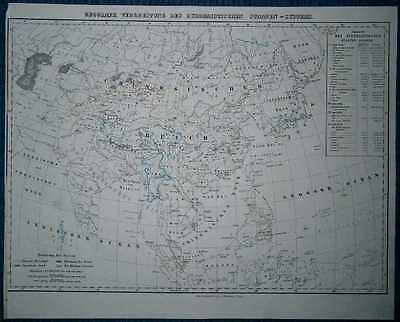 1848 Sohr Berghaus map BUDDHIST COUNTRIES OF THE WORLD (#7)