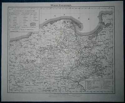 1848 Sohr Berghaus map WEST PRUSSIA, KINGDOM OF PRUSSIA (#25)