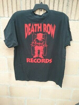 Authentic Men/'s Death Row Records Red Official Logo Licensed T-Shirt Black New