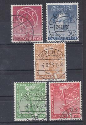 Germany West Berlin 1950's little group ERP, Beethoven, Olympic Set VFU