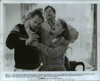 1984 Press Photo Paul McCrane, Josie Foster, Beau Bridges-Hotel New Hampshire