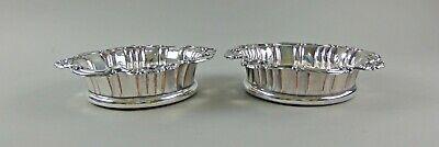 Pair of Antique Creswick Sheffield Plate Silver Wine/Champagne Bottle Coasters