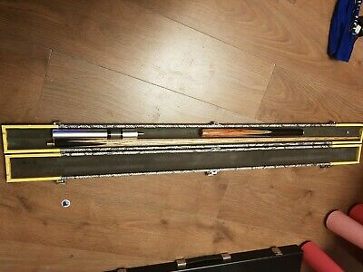 Steve Taylor 2pc hand made world champ Snooker Cue with extension and patch case