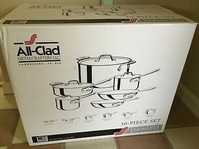 All Clad Stainless Steel 10 Piece Cookware Set All-Clad Brand New Best Offer!