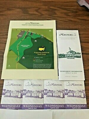 2019 Masters Tickets: 4 Tickets to Wednesdays Practice Round and Par3 Tournament