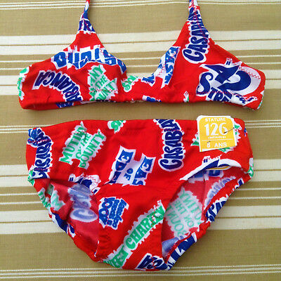 FRENCH 1970s GIRL COLLECTOR SWIMWEAR BATHING SUIT -CLASSIC AMERICAN MOVIES-NWT-8