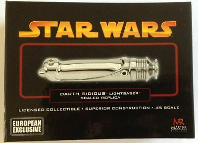 Master Replicas Star Wars Ep Iii Rots Darth Sidious Chrome Lightsaber .45 Sw-330