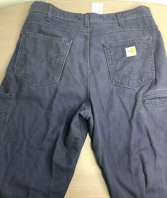 e0505969925b CARHARTT FR CANVAS Cargo Pants Flame Resistant Safety Clothing 34x34 ...