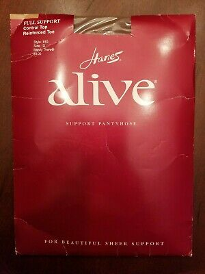 22c0a944748 Hanes Alive Full Support Control Top Pantyhose  810 Barely There D Up To ...