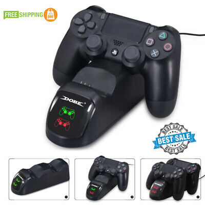 PS4 Controller Charging Station Dock Stand - Dualshock USB Port Charger Base New
