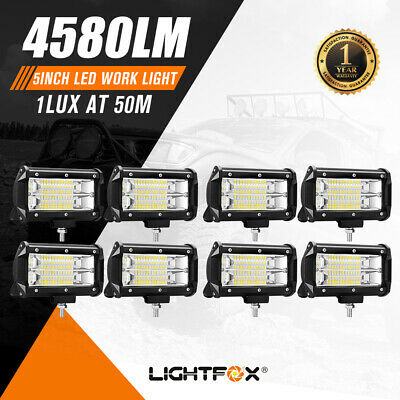 8X5 inch LED Work Light Bar Flood Beam Reverse Driving Lights Offroad 4WD