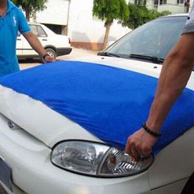 """Blue Microfiber Cleaning Towel Car Auto Wash Dry Clean Cloth 23""""x 63""""inch NICE"""