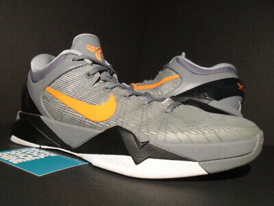 reputable site 88717 bca8d Nike Zoom Kobe Vii 7 System Wolf Grey Orange Cool Black White 488371-002  10.5
