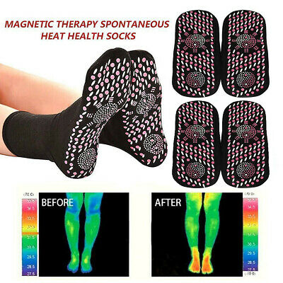 Magnetic Therapy Tourmaline Self Heating Unisex Vita Wear Relief Socks Health