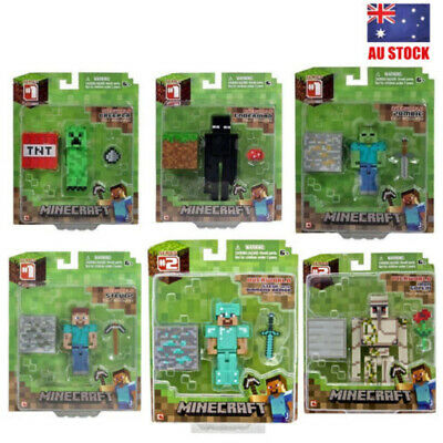 Minecraft Series 2 Steve With Arrows Zombie Creeper Blacksmith Action Figure Toy