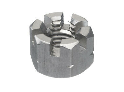 5x Hexagon slotted and castle nut DIN 935-1 Stainless steel A2 Right M24