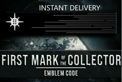 Destiny 2 First Mark of the Collector Emblem PS4/Xbox One/PC IN HAND