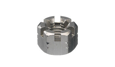 3x Hexagon slotted and castle nut DIN 935-1 Stainless steel A4 Right M27