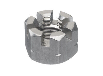 25x Hexagon slotted and castle nut DIN 935-1 Stainless steel A2 Right M12