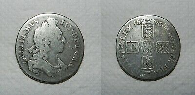 England :  William Iii Silver Crown 1696