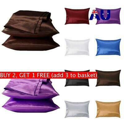 Pure Mulberry Silk Pillow Case Pillowcase Covers Housewife Queen Standard AU