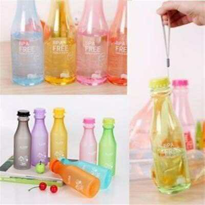 3 Size Candy Color Unbreakable Frosted Leak-proof Bottle Water Outdoor Sports BM