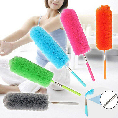 Telescopic Microfibre Duster Extendable Cleaning Home Car Cleaner Dust Handle BM