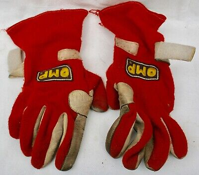 OMP Nomex Racing/Motorsport Gloves Red/White FIA 86 Rules ISO 6940 Used