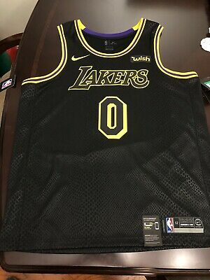 best sneakers c3ad2 6a993 NIKE LOS ANGELES Kyle Kuzma Swingman Black Mamba City Edition Jersey Sz 52  XL