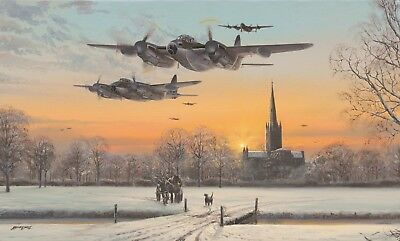 Limited Aviation Print Pathfinder Force by Philip E West (Mosquito) Small A/P