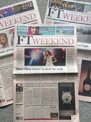 Financial Times Weekend Newspaper 4th/5th 11th/12th 18th/19th or 25th April 2015