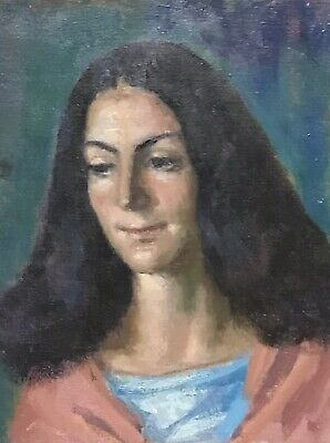 Akos Biro (Hungarian 1911-2002) French Expressionist Oil - Female With Long Hair