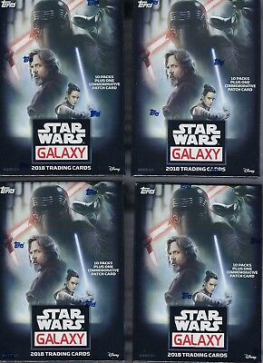 (4) 2018 Topps Star Wars GALAXY Trading Cards 61c Blaster Box LOT =1PatchCard/bx