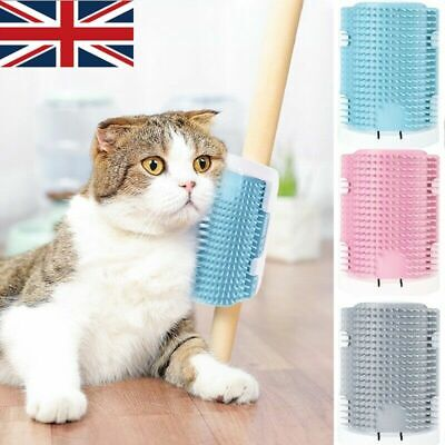 Pet Cat Self Groomer Brush Wall Corner  Massage Grooming Hair Fur Comb Tool Toy
