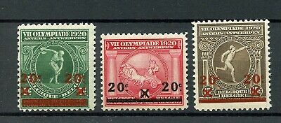 BELGIUM 1920 Olympic Games Stamps with overprint MNH **