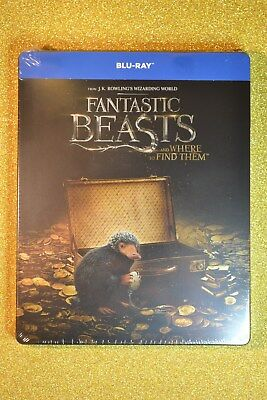 Fantastic Beasts and Where to Find Them Steelbook Bluray Import New & Sealed