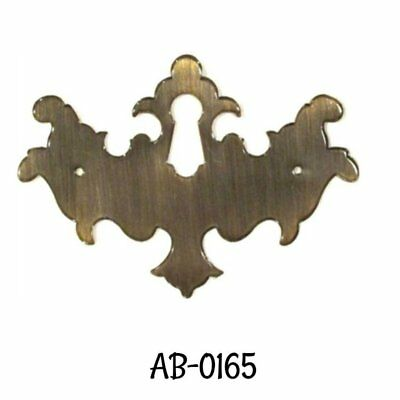 Keyhole Cover Antiqued Stamped Brass Chippendale Style Keyhole Cover Overall