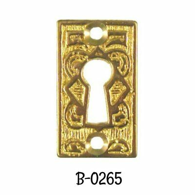Keyhole Cover Victorian Eastlake Cast Brass Key hole Cover Antique Escutcheon