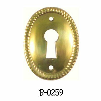 Keyhole Cover Stamped Brass Early American Style Oval Vertical Key hole Cover