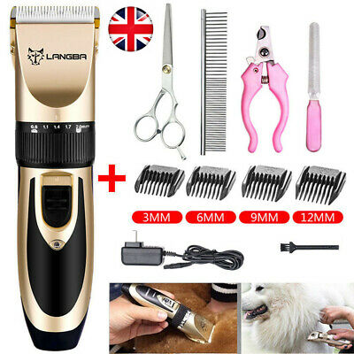 Pet Shave Clipper Hair Low Noise Cordless Electric Dog Cat Grooming Trimming Set