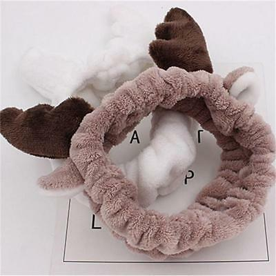 Korean Deer Horn Soft Towel Hair Band Wrap Headband Bath Spa Makeup CO
