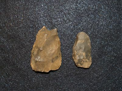 Native American Indian Artifact Tools Arrowhead Blade Knife Chisel Set of 2 #24