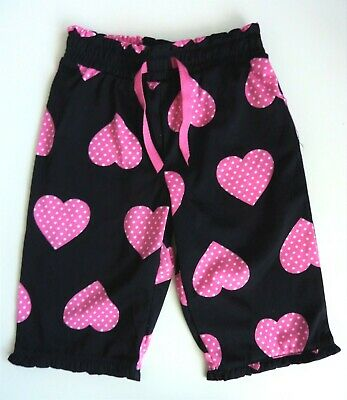 GAP Kids Girls PINK HEART Print Cropped P J Pants Pyjamas Bottoms 4y £12.95