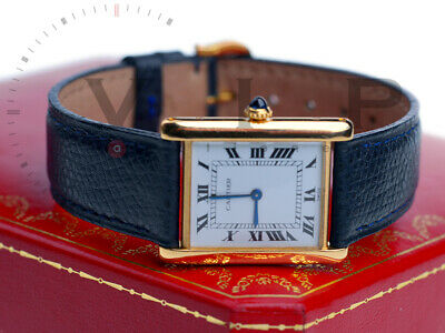 Cartier Tank Louis Mecanique Montre Uhr Golduhr Damenuhr 18K Solid Gold Watch