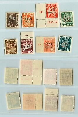 Lithuania 1940 SC 2N9-2N16 mint . rtb842