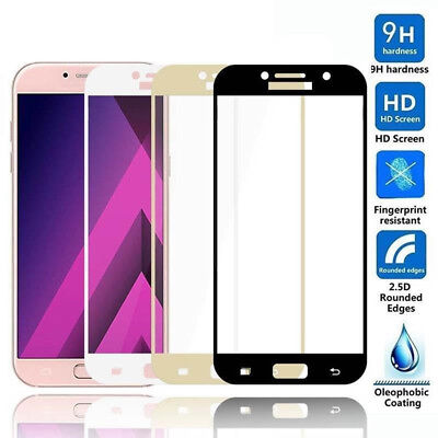 3D Full Cover Tempered Glass Screen Protector For Samsung Galaxy A3 A5 A7 Class