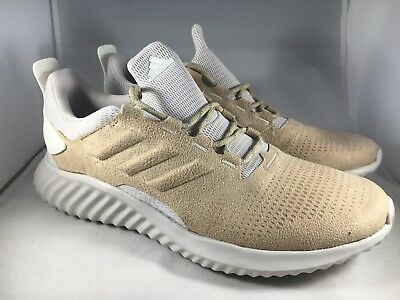 70df33a9c Adidas Alphabounce CR Mens size 11 Raw Gold Chalk Pearl DA9935 Running Shoes
