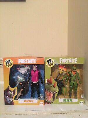"""McFarlane Toys FORTNITE REX and DRIFT 7""""Action Figures Epic Games NEW 2 Packs"""